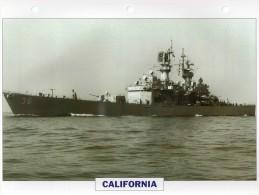 USA 1971   Croiseur Nucléaire Lance-misssiles CALIFORNIA,  24cmsx15.5cms, Au Dos Renseignements  Divers (b15) - Bateaux