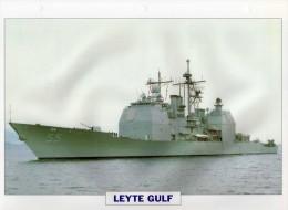 USA 1986  Croiseur Lance-misssiles LEYTE GULF,  24cmsx15.5cms, Au Dos Renseignements  Divers (b15) - Bateaux