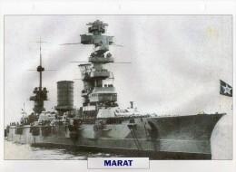 URSS 1911, Navire De Ligne Cuirassé, MARAT, Au Dos Renseignements  Divers (b21) - Bateaux