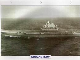 URSS 1985, Porte-aéronefs, Porte-avions Lourd KOUZNETSOV, Au Dos Renseignements  Divers (b21) - Bateaux