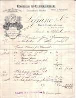 PARIS - FABRIQUE DE COULEURS & VERNIS - ENCRES D'IMPRIMERIE - LEFRANC & CIE - FACTURE + MANDAT - 1906 - Imprimerie & Papeterie