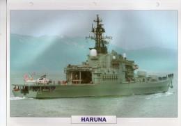 Japon 1972, Porte-hélicoptères, Destroyer HARUNA, Au Dos Renseignements  Divers (b21) - Bateaux