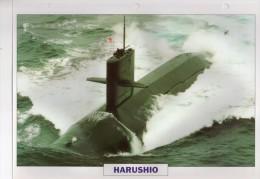 Japon 1967, Sous-marin D'attaque HARUSHIO, Au Dos Renseignements  Divers (b21) - Bateaux