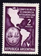 Argentine Thème Polaire P.A. N° 46 XX Conférence économique Interaméricaine De Buenos Aires TB - Argentina
