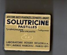 Boite PASTILLES SOLUTRICINE LABORATOIRE BELLON PARIS (LILOU) - Boîtes