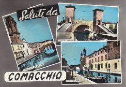 C1010- Saluti Da Comacchio - Ferrara - Primi Colori -  F.g. Viaggiata - Ferrara