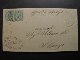 """ITALIA Regno-1866- """"T 16 Torino"""" Coppia C. 5 TODI>SAN VENANZO (descrizione) - 1861-78 Vittorio Emanuele II"""