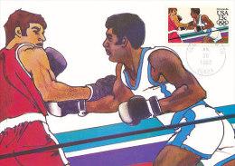 D14208 CARTE MAXIMUM CARD 1983 USA - BOXING CP ORIGINAL - Boxing