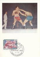 D14209 CARTE MAXIMUM CARD 1989 MONACO - BOXING CP ORIGINAL - Boxing