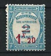 """Taxe YT 64  """" Surchargé 1F20 Sur 2F Bleu """" 1929-31 NSG - Segnatasse"""