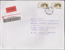 Espagne 2002 Michel ATM 76 Monet Goyon LB (1932), Sur Lettre Recommandée Exprès Pour La Belgique - Motorbikes