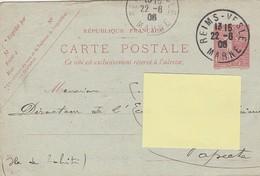 GRAINS ET FARINES L. LOESCH A REIMS En 1906 POUR PAPEETE - TAHITI - Kaartbrieven