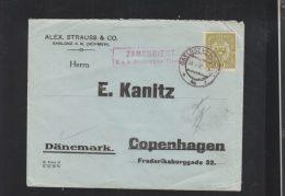 KuK Brief 1917 Nach Dänemark - Briefe U. Dokumente