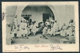 1904 Tunis Cafe Maure Postcard - Munchen, Germany. Hotel De Paris Et Imperial Cachet - Tunisia