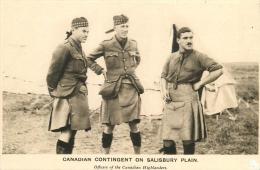 1914 - Canadian Contingent On Salisbury Plai - Officiers  Of The Canadian Highlanders -. CPA En Bel Etat (voir 2 Scans) - Guerra 1914-18