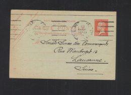 Carte Postale 1933 Paris A Lausanne - Biglietto Postale