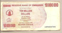 Zimbabwe - Banconota Circolata Da 10.000.000 Dollari - 2008 - Zimbabwe