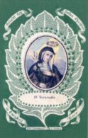 Santino Nuovo SANTA GERTRUDE - Ristampa Tipografica Da Santino Antico - PERFETTO F90 - Religione & Esoterismo