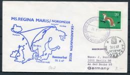 1967 Germany Norway Island MS Regina Maris Lubeck Linie Ship Deutsche Schiffspost Spitsbergen Spitzbergen Hammerfest - Briefe U. Dokumente