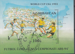 Football USA '94  Sheet Azerbadjan 1994 OBLITÉRÉ-USED-GESTEMPELD - World Cup
