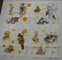 Lot De 4 Mouchoirs En Papier Motifs   Dragon Ball Z - Servilletas De Papel Con Motivos
