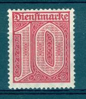 ALLEMAGNE  SERVICE  REICH  ANNÉE 1920 22    N° 17   NEUF  GOMME DOS  CHARNIÈRES - Dienstzegels