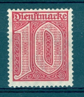 ALLEMAGNE  SERVICE  REICH  ANNÉE 1920 22    N° 17   NEUF  GOMME DOS  CHARNIÈRES - Service