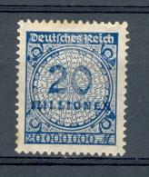 * 1923 N° 300 DEUTFCHES REICH 20 MILLIONEN 20 000 000 M NEUF SANS  GOMME - Abarten