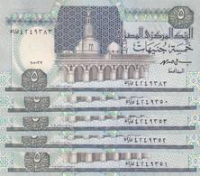 EGYPT 5 EGP POUNDS 1997 P-59 SIG/ ISMAEL HASSAN #19 LOT X10 UNC NOTES */* - Egypt