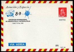 005. ESPAÑA / SPAIN / ESPAGNE (1989). AVIACION Y ESPACIO 89 - Exposición Internacional De Aerofilatelia Y Astrofilatelia - Cartas