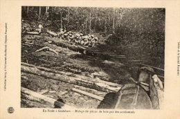 GODEBERT (Guyane) Bagne Bagnards Halage De Pièces De Bois Par Des Condamnés - Guyane