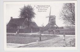 (RECTO / VERSO) WORMHOUT - N° 9 - MOULIN DE LA PREVOTE DE SAINT WINOC AVEC PERSONNAGES - RETOSPECTIVE DE WORMHOUT - Wormhout