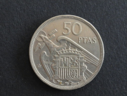 1957 - 50 Pesetas (58)  Espagne - Spain - [ 5] 1949-… : Royaume