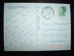 CP TP LIBERTE DE GANDON 1,60F OBL. 18-8-1983 PORTIRAGNES HERAULT (34 HERAULT) - Marcophilie (Lettres)