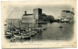 13 CPA Précurseur Voyagée 1903 Marseille Le Vieux Port Et Le Fort Saint-Jean Collection ND - Vieux Port, Saint Victor, Le Panier
