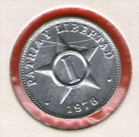 CUBA / KUBA *** 1 / UN CENTAVO  1978 ***   Alu - KM# 33.1 - Cuba