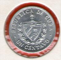CUBA / KUBA *** 1 / UN CENTAVO  1979 ***   Alu - KM# 33.1 - Cuba