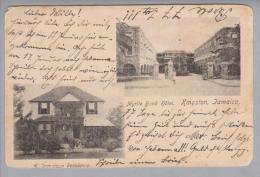 Jamaica Kingston Myrtle Bund Hotel 1905-01-17 Foto Nach De Grossenhaim - Cartes Postales