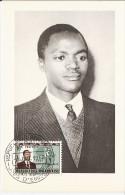 RWANDA 1962 CARTE MAXIMUM KARTE CARD INDEPENDANCE KAYIBANDA PRESIDENT REPUBLIQUE EDITION UNIMAX - Rwanda