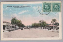 Karibik Kuba Alameda Michaelsen, Santiage De Cuba 1919-09-09 Nach Belgien - Cartes Postales