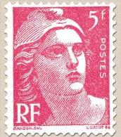 Marianne De Gandon 5F Rose Année 1945 N° 719A Neuf ** - 1945-54 Marianne De Gandon