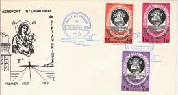 HAITI 1964 FDC 1ER JOUR ERSTAUSGABE INAUGURATION AEROPORT PORT AU PRINCE AIRPORT FLUGHAFEN POSTE AERIENNE AVION PLANE - Haïti