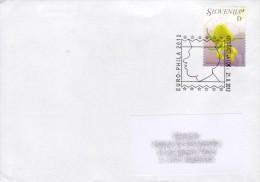 Cover / Lettre - Slovenia - Skofja Loka To Luxembourg - Euro Phila 2012 - Expositions Philatéliques
