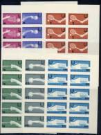 BULGARIA 1961 Universiade 1961 Imperforate Set In Blocks Of 10 MNH / **.  Michel 1237-42 - Bulgaria