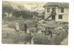 -CPA 44-----LE POULIGUEN PECHE AUX HOMARDS DANS LE PARC DE LA GARE-----ANIMATION  HOMMES FEMMMES 1907 - Le Pouliguen
