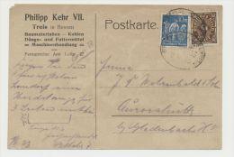 DR MiNr 239 208 Bahnpost Giessen Lollar Grünberg 2.6.23 PP13 Philipp Kehr VII Treis In Hessen Erhaltung Befriedigend - Storia Postale