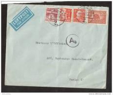 Lettre Danmark Pour Paris Luftpost 1942 Ab - 1913-47 (Christian X)