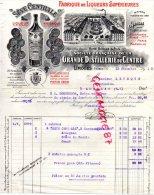 87 - LIMOGES - BELLE FACTURE GRANDE DISTILLERIE DU CENTRE-AIME BOULLE - SEVE CENTRALE-1910 - Factures & Documents Commerciaux