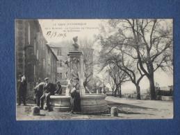 CPA-30-BARJAC-La Fontaine De L'esplanade Et Le Château-Animée-(port Gratuit) - Autres Communes