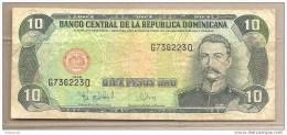 Rep. Dominicana - Banconota Circolata Da 10 Pesos Oro - 1998 - Repubblica Dominicana